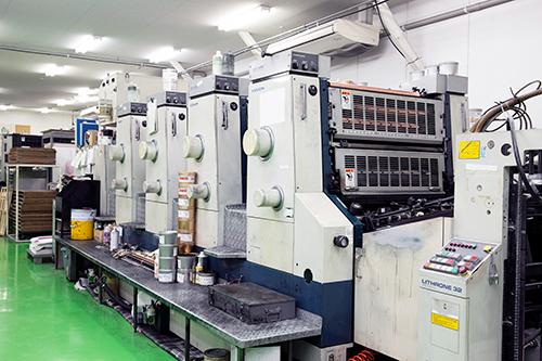4色オフセット印刷機(KOMORI LITHRONE 32)